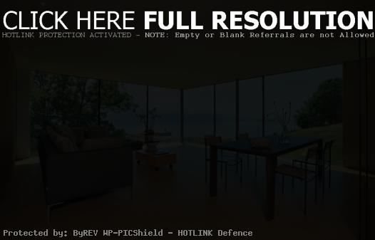 living and dining area with beautiful view