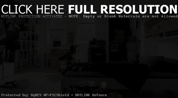 Black White Room Designs for Teenage Boys