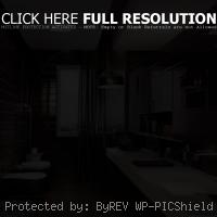 modern bathroom with brown color scheme