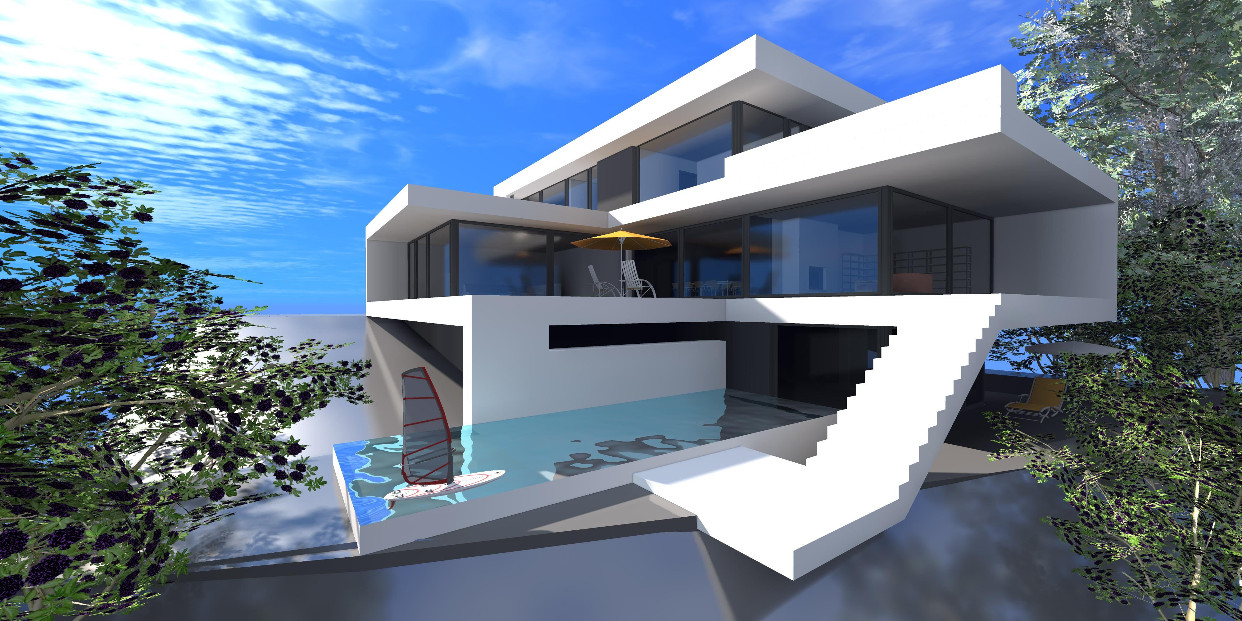 3D Modern House Plans with Photos