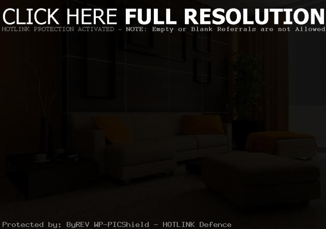 House Decorating Ideas | Brown Orange Living Room Color Scheme