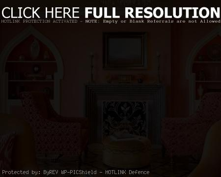 Red and orange oriental interior style